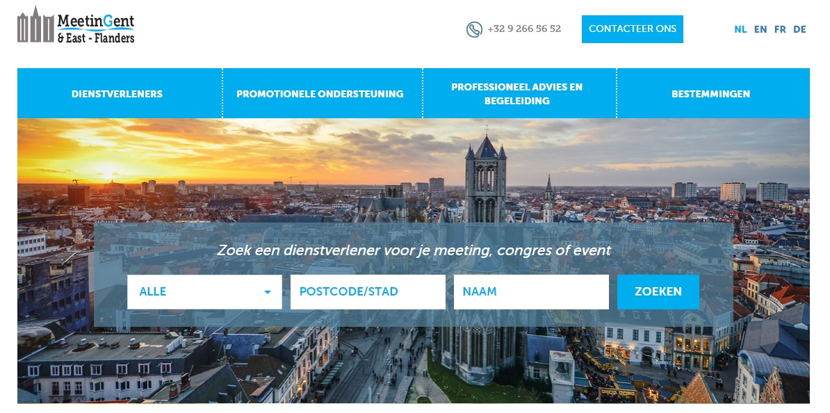 MeetinGent en Oost-Vlaanderen lanceert nieuwe website!