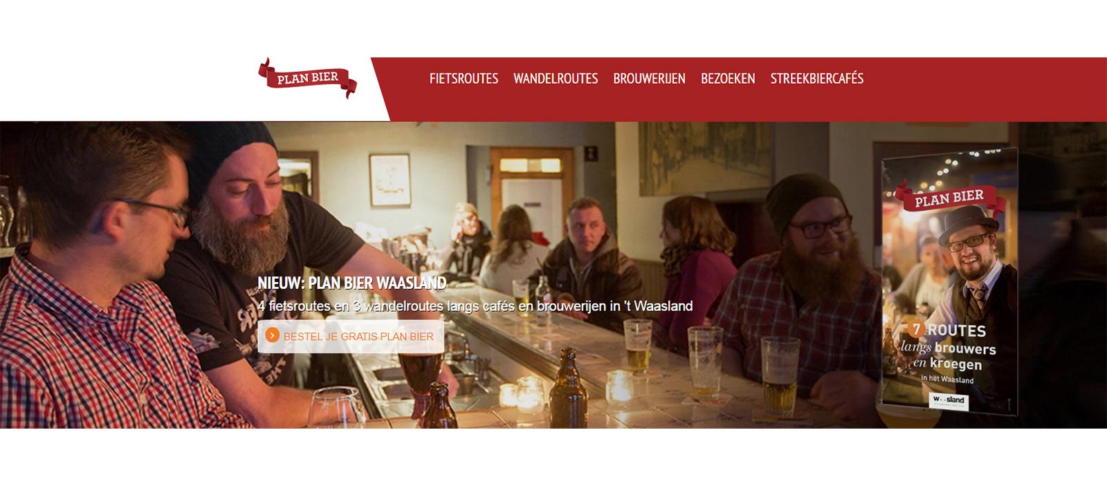 Nieuwe Plan Bier website