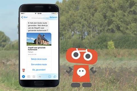 Chatbot Roger spoort aan tot fietsen en wandelen in Oost-Vlaanderen