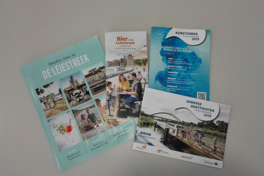 Nieuwe brochures Leiestreek