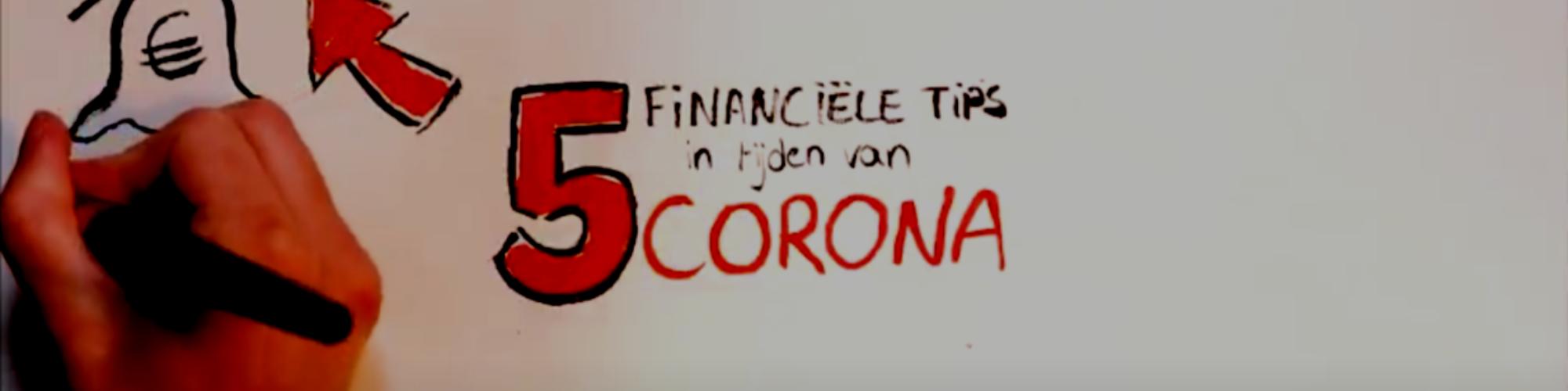 5 financiële tips in tijden van corona